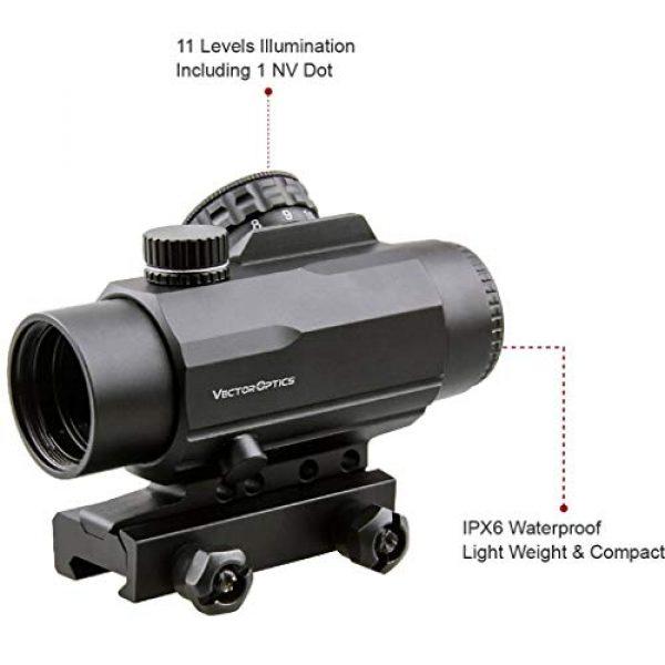 Vector Optics Rifle Scope 5 Vector Optics Calypos 1x30mm, Red Illuminated BDC Reticle, Second Focal Plane (SFP), 1/2 MOA Compact Tactical Prism Riflescope