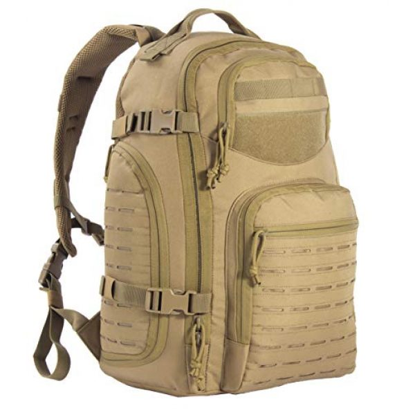 XMILPAX Tactical Backpack 1 Military Tactical Backpack Bugout Bag Lazer Cut MOLLE Hiking Backpack Daypack EDC Pack 40L
