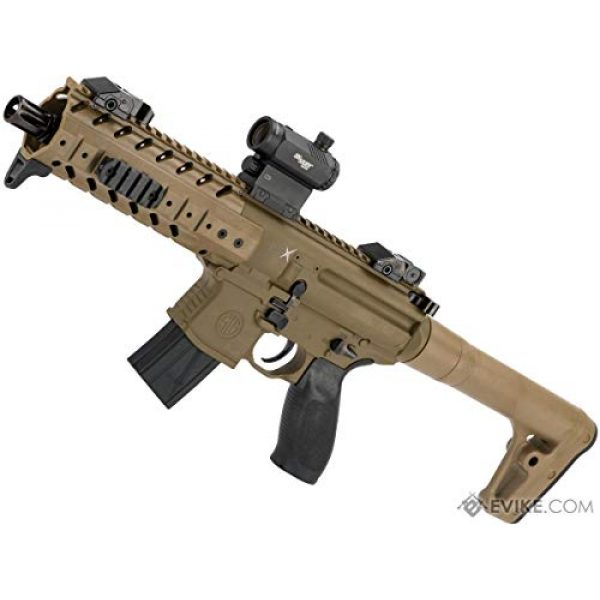 Sig Sauer Air Rifle 2 Sig Sauer MPX .177 Cal CO2 Powered SIG20R Red Dot Air Rifle 30 Rounds, Flat Dark Earth, One Size