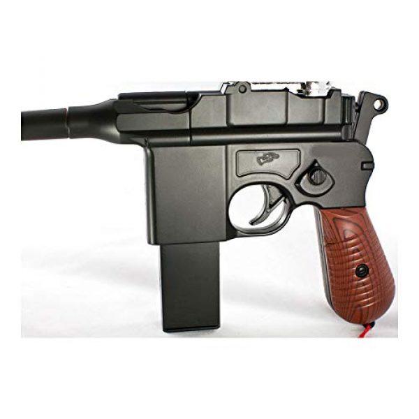 MilSim Airsoft Pistol 2 New WW2 MAUSER BROOMHANDLE C96 German Airsoft Spring Hand Gun Pistol w/ 6mm BB