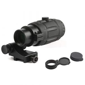 Vector Optics Rifle Scope 1 Vector Optics 3X, 4X, 5X Tactical Maginifier with Flip-to-Side Detach Quick Release QD Picatinny Mount and Flip-up Scope Lens Cover for Red Dot Reflex Sight (Matte Black) (3X) (3X)