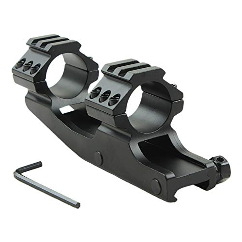 Without Rifle Scope 3 Toy Gun Sight Red dot Sight Magnification Black Color 25.4mm Dual Ring Cantilever Heavy Duty Scope Mount Picatinny/Weaver Rail (Color : Black)