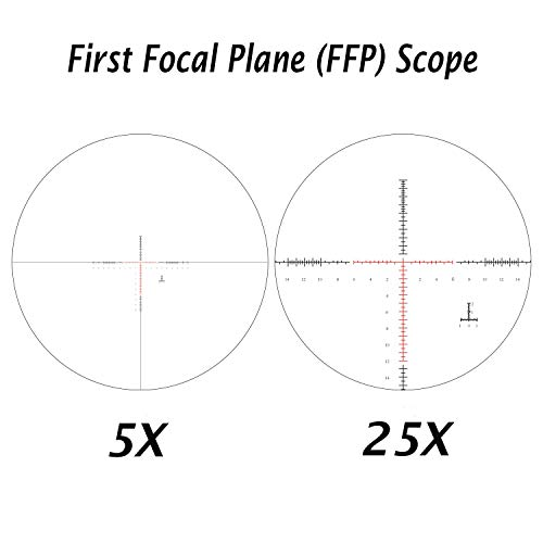 Sniper Rifle Scope 3 Sniper ZT 5-25x50 FFP First Focal Plane (FFP) Scope with Red/Green Illuminated Reticle