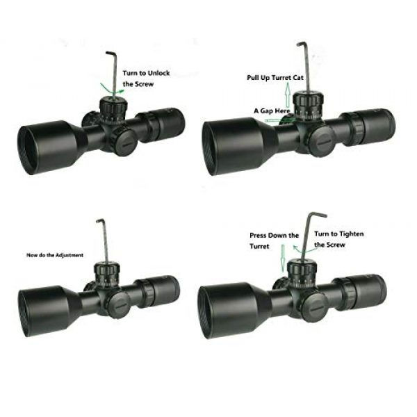 DB TAC INC Rifle Scope 3 DB TAC INC Compact 3-9x42 Red and Green Color Illuminated Scope Come with Rings