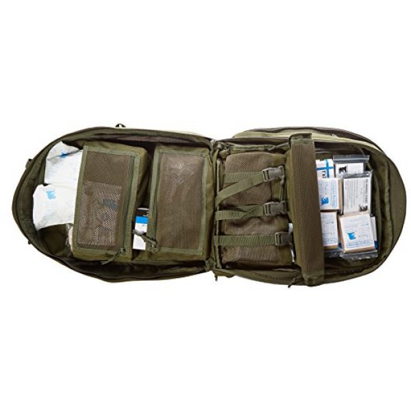 Stomp Medical Kit Tactical Backpack 4 Stomp Medical Kit Fully Stocked First Aid Backpack, OD Green