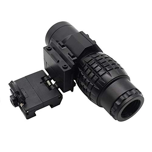 KTAIS Rifle Scope 2 KTAIS 3xMagnifier Riflescope Tactical Magnifying Hunting Scope for Riflescopes Plastic Toy Mount Fits Holographic Reflex Sight (Color : B)