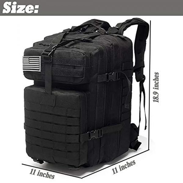 Novemkada Tactical Backpack 2 Tactical Backpack - 1000D Military Molle Army 3 Day Assault Pack Backpacks 40L