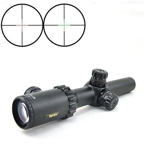 TOTEN Rifle Scope 2 TOTEN Rifle Scope 1-8X24DL with VDK Wide Angle Hunting Tactical Military Hunting Scope for Watching