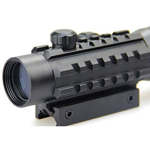 DJym Rifle Scope 4 DJym Used for Hunting Rifle red dot Sight, 2x30 HD Blue Film Red and Green Aiming Nitrogen Waterproofing Anti-Fog