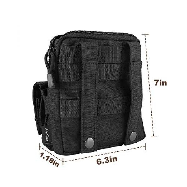 """ProCase Tactical Backpack 7 ProCase Tactical Sling Bag with Pistol Holster Bundle with Tactical Pistol Mag Pouch Molle Pistol Submachine Gun Magazine Bag """"Black"""