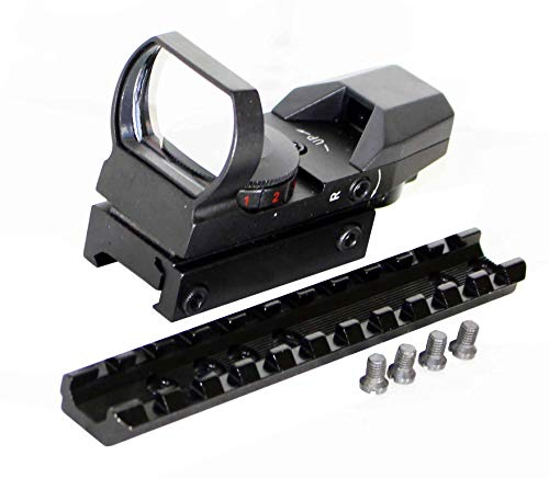 TRINITY Rifle Scope 2 TRINITY Reflex Sight and Base Mount for Marlin 336 Rifle Picatinny Weaver Base Mount Adapter Aluminum Black Hunting Optics Mount Tactical Home Defense Accessory Single Rail.