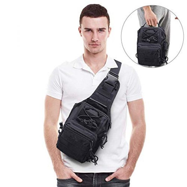 hopopower Tactical Backpack 6 Hopopower Tactical Sling Bag Pack Crossbody Shoulder Backpack Sport Daypack for Men