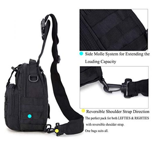 Dunnta Tactical Backpack 2 Dunnta Tactical Sling bag, Military Sport Bag EDC Molle Pack Daypack for Camping, Hiking, Trekking, Rover Sling