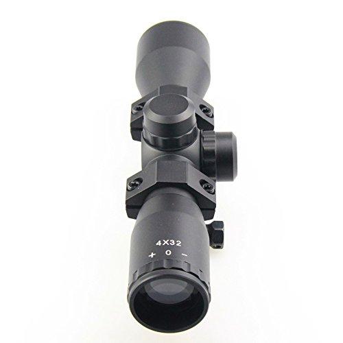 TACFUN Rifle Scope 4 TACFUN - AIM Tactical MIL-DOT Reticle Compact Scope/w Rings