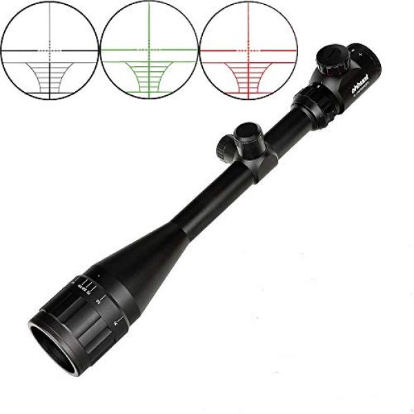 ohhunt Rifle Scope 1 ohhunt 6-24x50 AOEG Hunting Riflescopes 1 inch Tube Red Green Illuminated Optical Sight