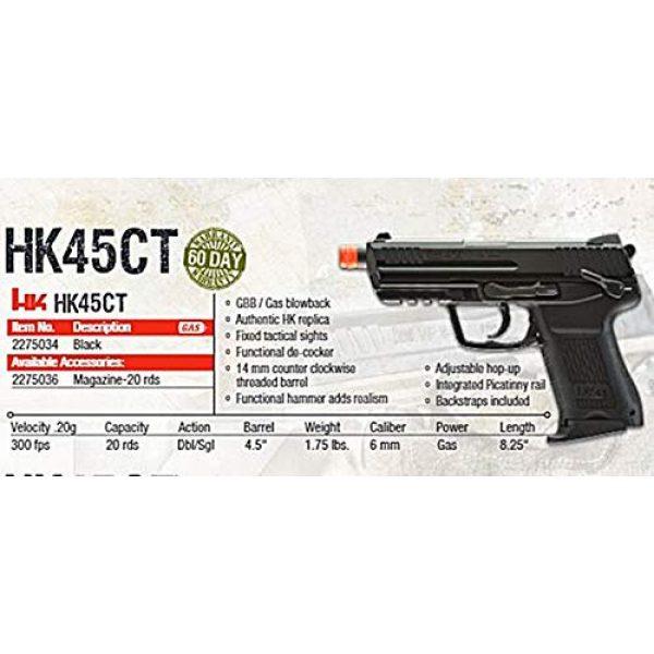 Umarex Airsoft Pistol 6 Umarex HK Heckler & Koch HK45 GBB Blowback 6mm BB Pistol Airsoft Gun, Black, HK45 Compact GBB, one Size (2275034)