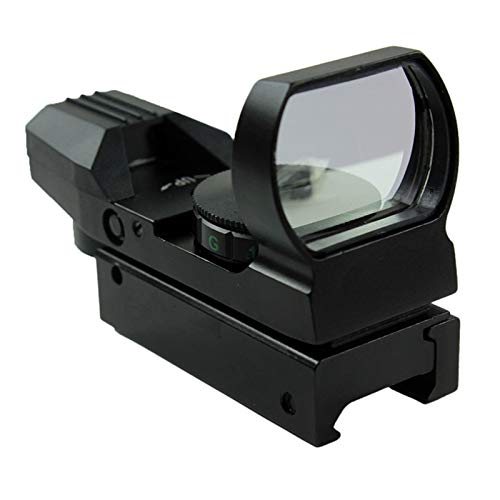 Without Rifle Scope 3 Toy Gun Sight Red dot Sight Magnification Red and Green Dot 4 Reflex Sight (Color : Black)