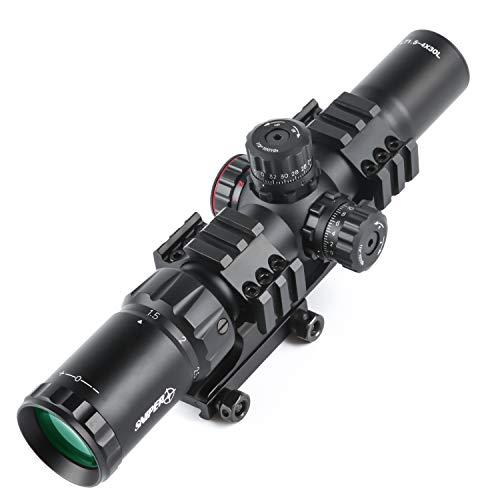 Sniper Rifle Scope 6 Sniper LT1.5-4x30 Scope Tri Illuminated Chevron Reticle Scope Riflescope for .223/5.56 Rifles