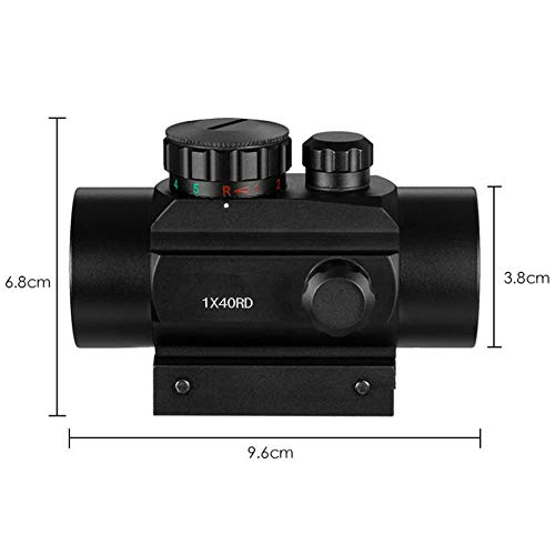 TGUANG Rifle Scope 7 TGUANG 1x40 Riflescope Tactical Red Dot Scope Sight Hunting Holographic Green Dot Sight with 11mm 20mm Rail Mount