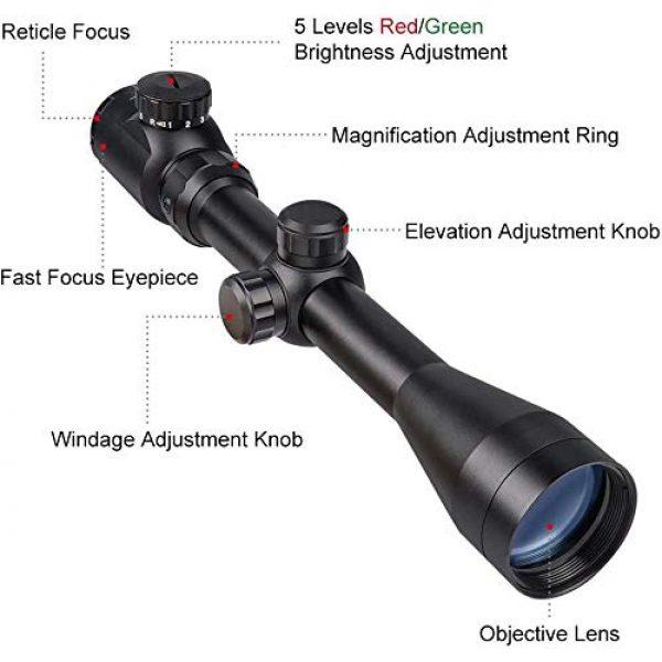 QILU Rifle Scope 2 QILU RFS-18 Tactical Rifle Scope Illuminated Reticle Optics Hunting Scope 1 Inch Tube