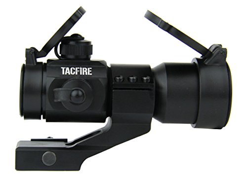 TacFire Rifle Scope 1 TacFire 1 x 30mm Tactical Dot Rifle Scope Sight with Cantilever Weaver Mount, Red/Green