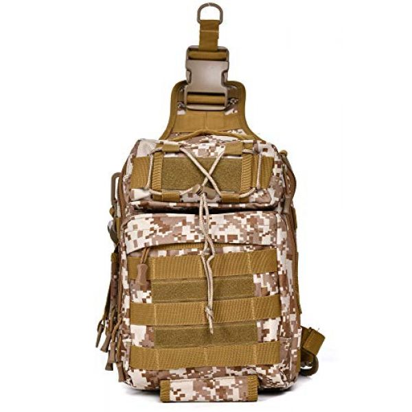 Ornate Tactical Backpack 2 Ornate Tactical Sling Bag, 600D Bug Out Molle Backpack