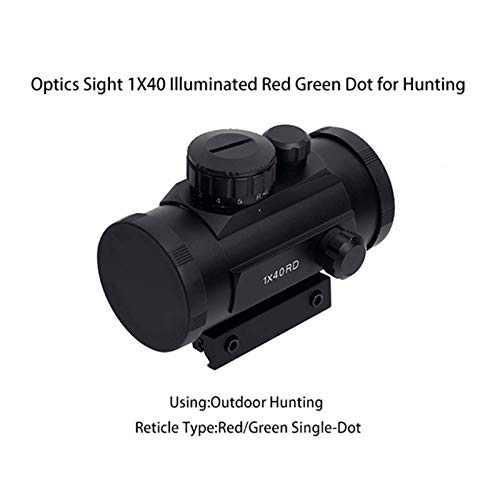 UELEGANS Rifle Scope 2 UELEGANS Red Dot Sight Red & Green 5 Brightness Settings with 11mm/20mm Weaver/Picatinny Rail Mount and Protector Covers Rifle Scope for Hunting