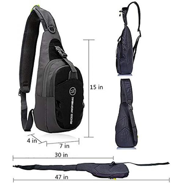 Peicees Tactical Backpack 3 Peicees Water Resistant Sling Bag Crossbody Chest Pack One shoulder Backpack Sport Outdoor for Men Women Teens Boys and Girls