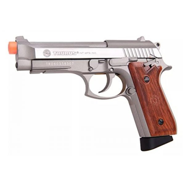 Taurus Airsoft Pistol 1 Taurus PT92 CO2 Full Metal Airsoft Pistol, Silver/Wood