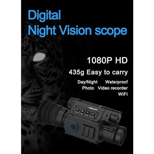 DJym Rifle Scope 2 DJym Infrared Night Vision, Thermal Imaging Night Vision Digital Video Patrol Hunting