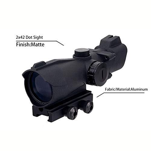 Fashion Sport Rifle Scope 4 Fashion Sport Tactical Optical 2x42 Dot Sight Hunting air Gun red/Green dot Sight Magnification Scope for Airsoft Hunting