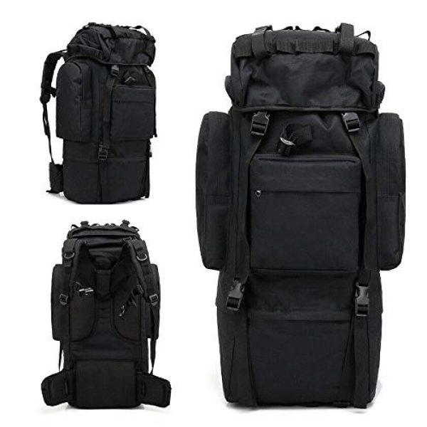 Suoki Tactical Backpack 3 Molle Backpack 65L Waterproof Internal-Frame Hiking Camping Rucksacks With Rain Cover