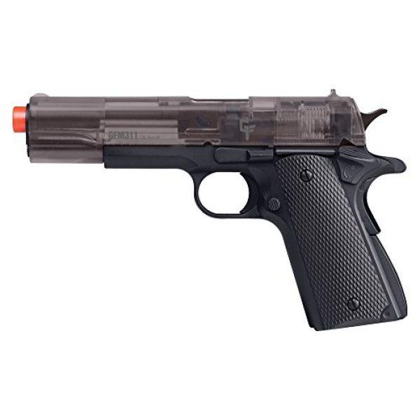 Game Face Airsoft Pistol 2 Game Face APGFM311S Crosman GFM311 Full Metal Spring Powered Airsoft Pistol, Smoke