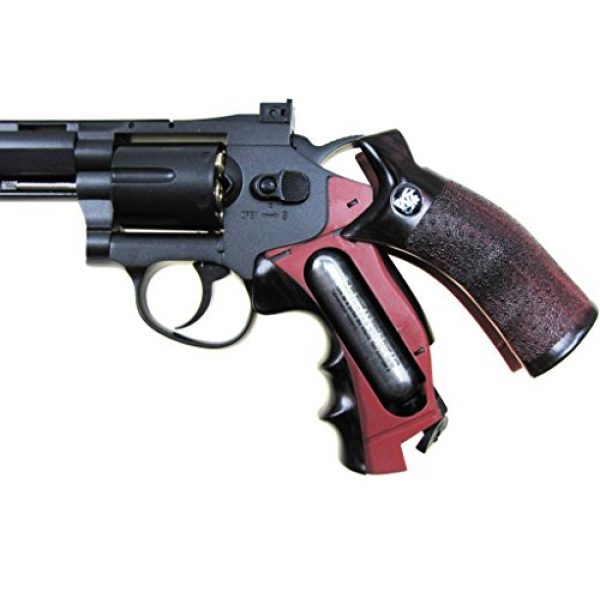 "Boomingisland Airsoft Pistol 4 Boomingisland Wingun 703 8"" Airsoft CO2 Revolver Black"