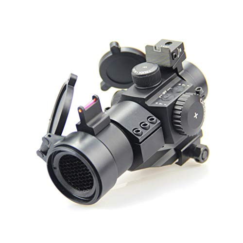 AJDGL Rifle Scope 6 AJDGL 1X30mm Tactical Red Dot Sight Scope- Rapid Ranging Reticle Fiber Optic Front Sight with Picatinny Rails for Rifle Hunting