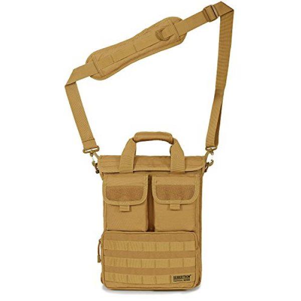 "Seibertron Tactical Backpack 2 Seibertron Expandable 14"" Laptop Waterproof Messenger Bag Multiple Pockets & Compartments Carry as Messenger Bags Khaki"