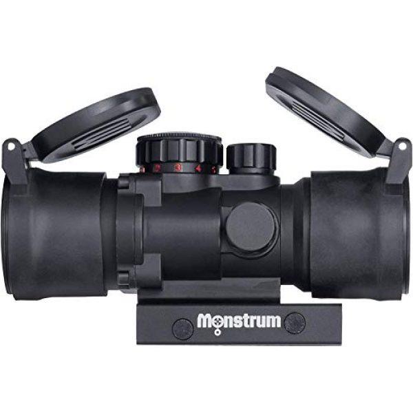 Monstrum Rifle Scope 1 Monstrum S330P 3X Prism Scope | Monstrum Flip Up Lens Cover Set | Bundle
