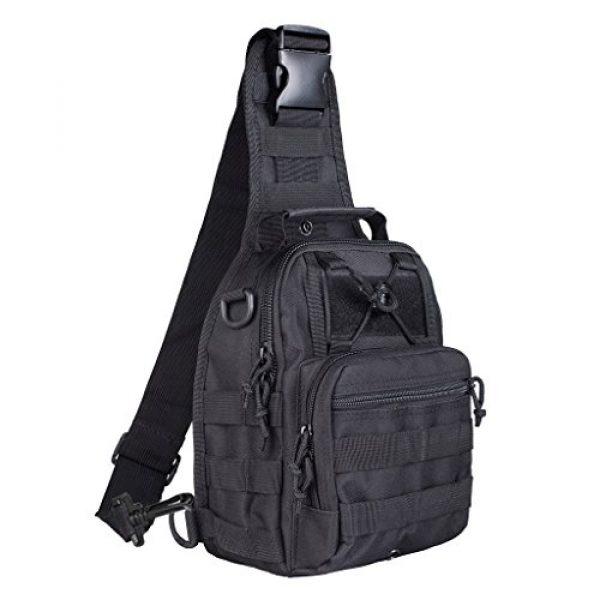Qcute Tactical Backpack 1 Qcute Tactical Bag, Single Shoulder Messenger Bag, Chest Bag, Casual Office Tactical Satchel, Small Tool Backpak, Bag Which is Suitable for Carrying ipad, Smart Phone, Wallet and Daily Necessities