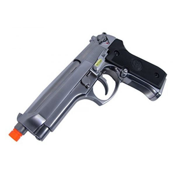 WE Airsoft Pistol 3 WE m92 gas/co2 blowback full metal - silver by we(Airsoft Gun)