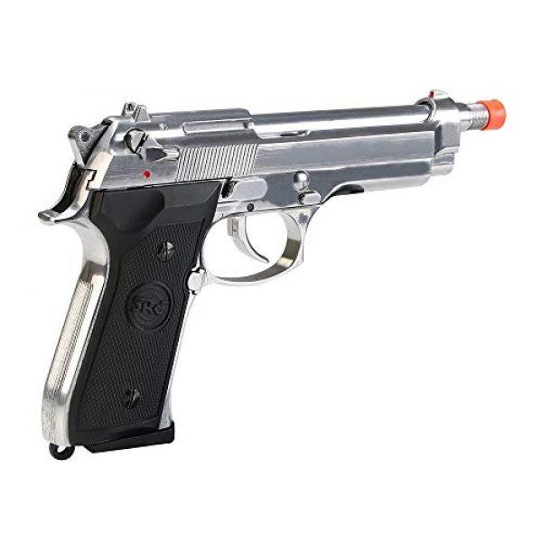 BULLDOG AIRSOFT Airsoft Pistol 5 SR92 Co2 Blowback Silver Airsoft Pistol [Airsoft Blowback]