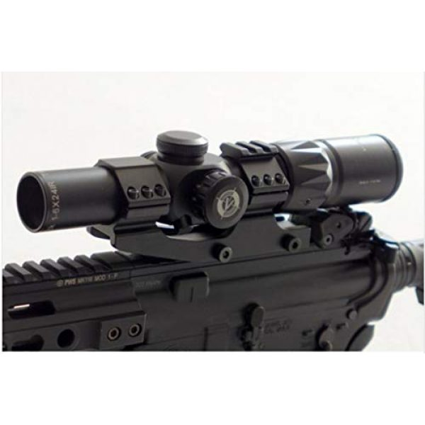 Vector Optics Rifle Scope 6 Vector Optics 1-6x24mm 1/2 MOA Compact Tactical Riflescope with Red & Green Dot Illuminated Reticle, Free 30 mm Mount and Free Lens Cover