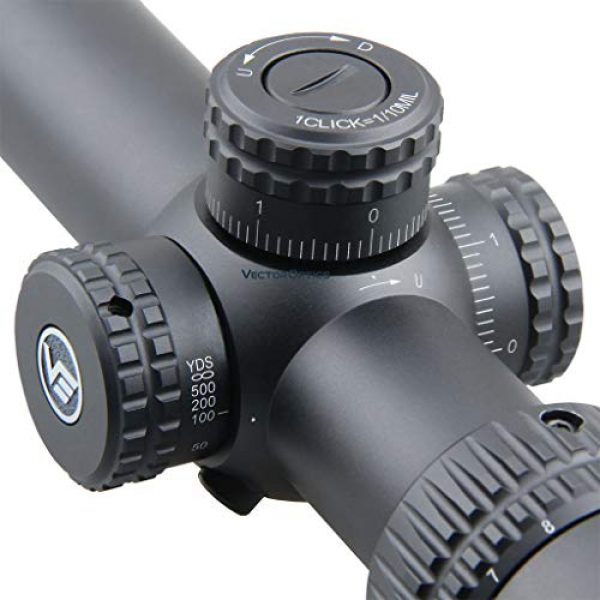 Vector Optics Rifle Scope 3 Vector Optics Veyron 6-24x44mm, 1/10 MIL, 30mm Tube, First Focal Plane (FFP) Ultra Short Riflescope