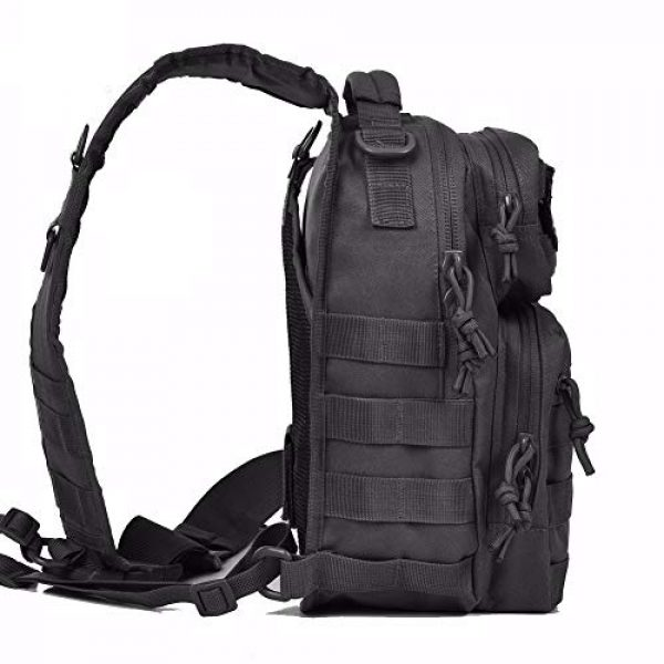Tactic Ops Tactical Backpack 2 Tactical Sling Bag Backpack Pack Military Waterproof Assault Rover Shoulder Sling Molle Range Bag Everyday Carry EDC Diaper Bag Small Day Pack by Tactic Ops