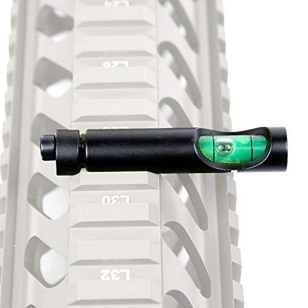 COLIBROX Rifle Scope Accessory 2 Metal Spirit Bubble Level for 20 mm Picatinny Weaver Rail Rifle Sight Scope Mount