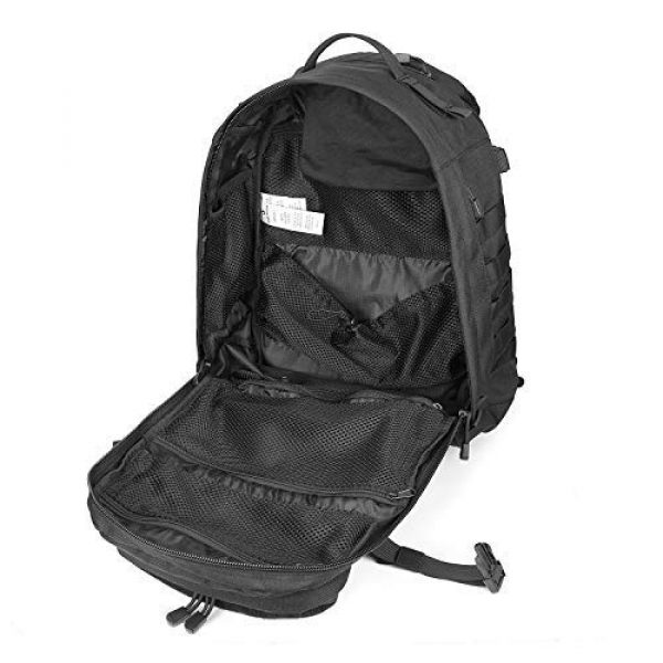 Scudo Tactical Tactical Backpack 5 SCUDO TACTICAL VERTICE 24 Military Backpack with 3L Hydration Bag / Insulated Hydration Pocket (Black, 37L)