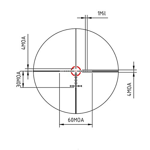 SPINA OPTICS Rifle Scope 3 1-6x28 SFP Tactical Rifle Scope Optics Sight Mil-dot Reticle Wide Angle Wide Vision Scope for Hunting