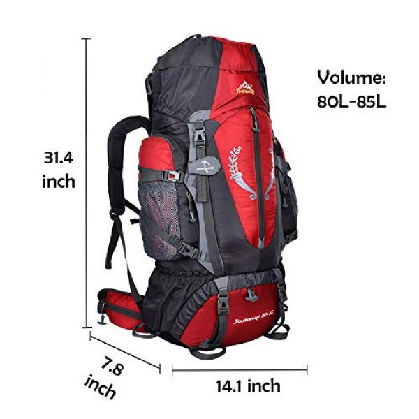 outdoor plus Tactical Backpack 2 outdoor plus Backpacking Backpack, 60L/65L/70L/85L Waterproof MOLLE Rucksack Hiking Hunting