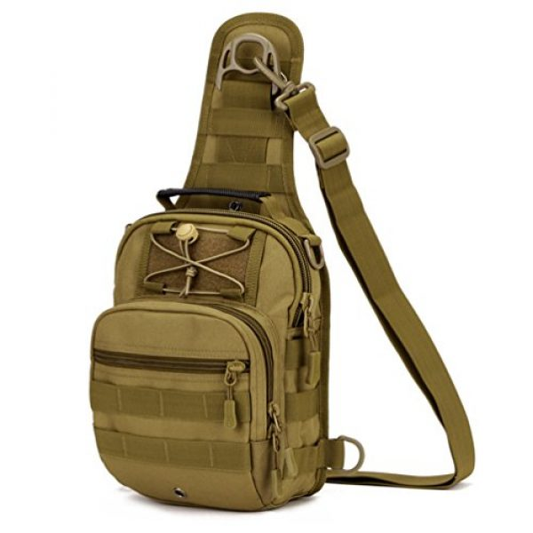 Protector Plus Tactical Backpack 1 UNISTRENGH Tactical Sling Chest Pack Large MOLLE Crossbody Shoulder Bags Gear Duty Daypack