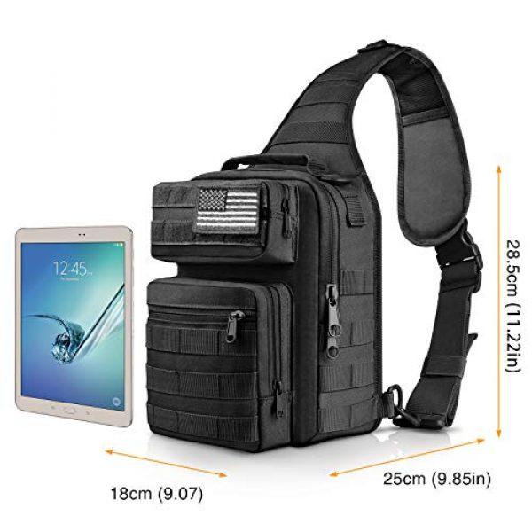 CVLIFE Tactical Backpack 2 CVLIFE Tactical Sling Bag Pack Military Rover Shoulder Sling Backpack Molle Range Bag EDC Small Day Pack with Padding Pocket