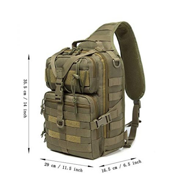 Harsgs Tactical Backpack 7 Harsgs Tactical EDC Sling Bag Pack, Military Rover Shoulder Molle Backpack, with USA Flag Patch